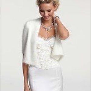 Wedding angora shrug Ann Taylor M